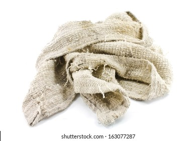 old towel on a White background