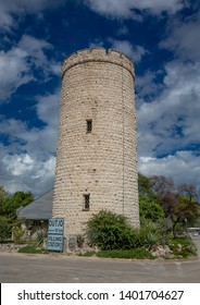 Old tower of Camp Okaukuejo at the Etosha Nationalpark in northern Namibia during summer
