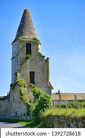 Old tower in ruins off-the-beaten-track, Oise, Picardy countryside, France