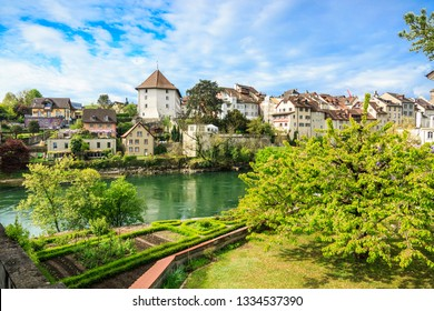 The Old Town and Aare river in Brugg city, Canton Aargau, Switzerland