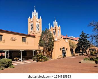 Old Town Albuquerque Catholic Church.  This church was built in thr late 1700s.