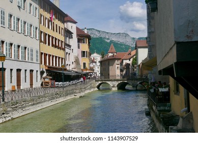 Old town Annecy and Thiou river