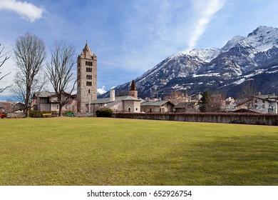 Old town of Aosta, Valle d'aosta, Italy .