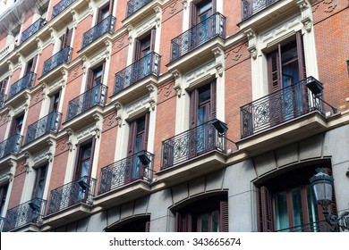 Old town architecture in Madrid, Spain