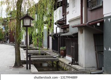 Old Town area in Hida Furukawa city, Gifu Prefecture, Japan.