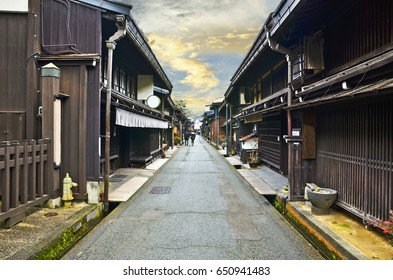 Old town area in Takayama City, Japan.