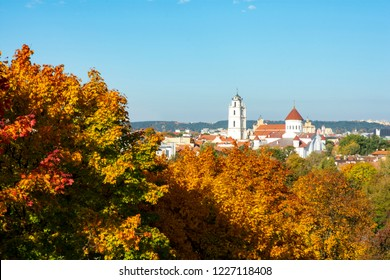 Old Town Behind Autumn Leaves - Vilnius, Lithuania