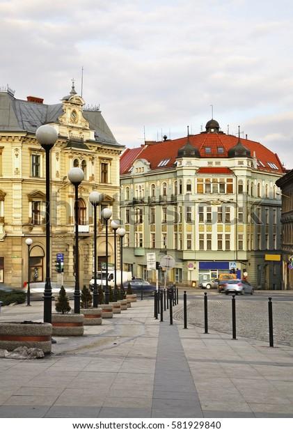 Old town in Bielsko-Biala. Poland