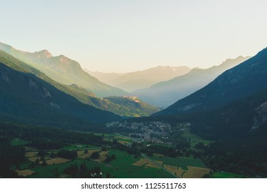 The Old Town of Briancon, built by Vauban, are Unesco World Culture Heritage site. Briancon is the highest city in France in the middle of the Alps mountains