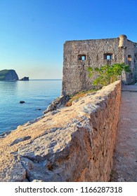 Old town in Budva  Montenegro in a beautiful summer day