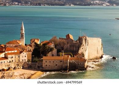 Old town Budva.Montenegro.Adriatic sea.