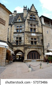 Old town  buildings at Sarlat, France an historic town in the Dordogne region
