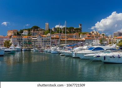 Old town in Cannes in France - travel and architecture background