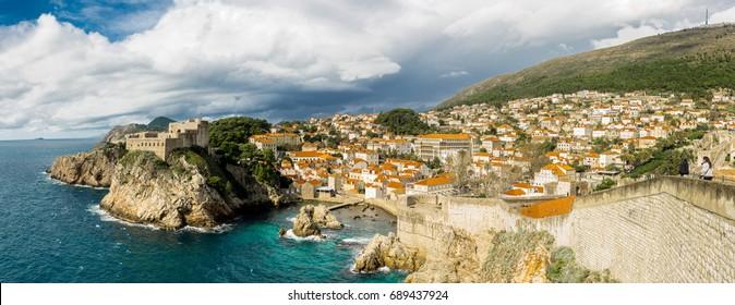 Old Town Castle in Dubrovnik, Croatia
