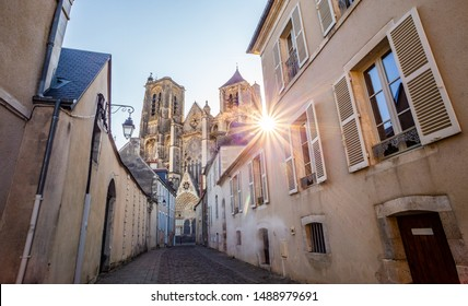 The old town center of Bourges and the cathedral, Centre-Val de Loire, France
