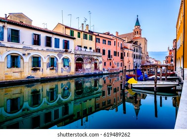 old town of chioggia in italy