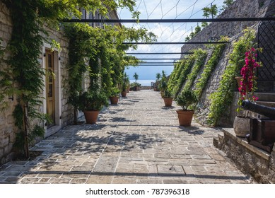 Old Town citadel of Budva coastal town, Montenegro
