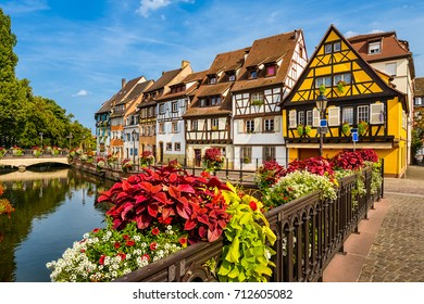 Old town of Colmar, Alsace, France on a sunny day