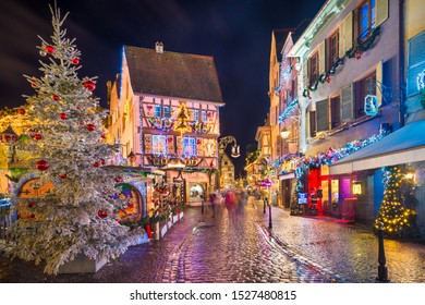 Old town of Colmar with Christmas decorations, Alsace, France