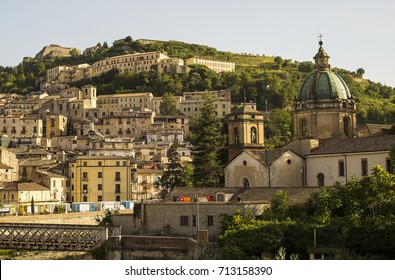 Old town of Cosenza Italy /  Historic buildings in Cosenza, Calabria, Italy
