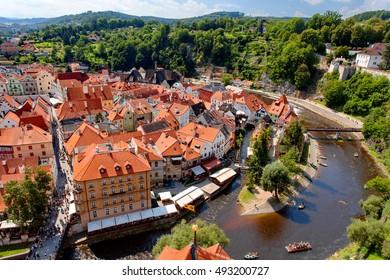 Old town of Czech krumlov, Cesky Krumlov, Bohemia, Czech Republic .