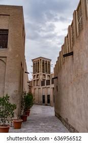 Old town in Dubai, Bastakiya district, Al Fahidi historical neighbourhood