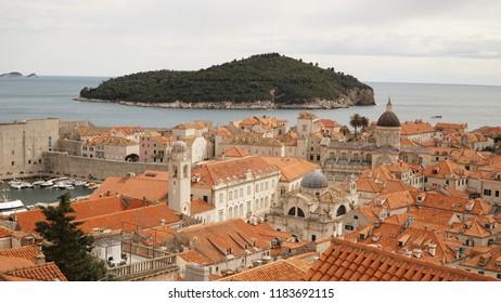 Old town of Dubrovnik in Croatia.