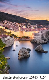 Old town of Dubrovnik, Croatia at night