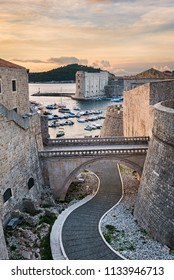 Old town of Dubrovnik, Croatia with view to the harbor