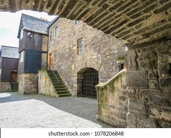 Old Town Edinburgh. Medieval Houses on the Royal Mile. Edinburgh, Scotland, UK