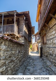 Old town in Europe. Southern city of Nessebar, Bulgaria, Balkans