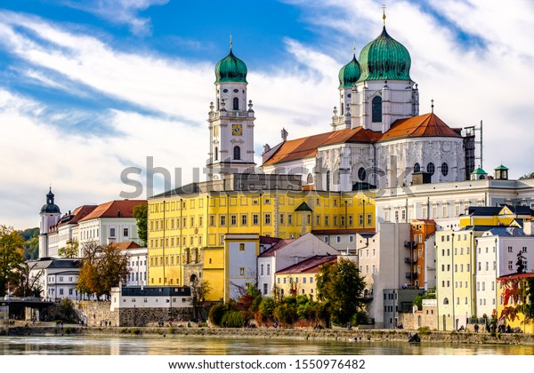 old town of the famous bavarian village passau