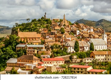 The old town of Fianarantsoa, Madagascar highlands