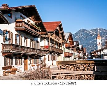 old town at garmisch partenkirchen - germany - bavaria