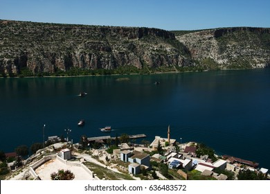 The old town of Halfeti in Turkey.Halfeti is a small farming district on the east bank of the river Euphrates in Sanliurfa Province in Turkey, 120 km from the city of Sanliurfa.