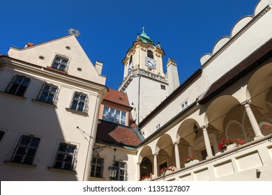 Old Town Hall in Bratislava, Slovakia, city landmark dating back to 14th century