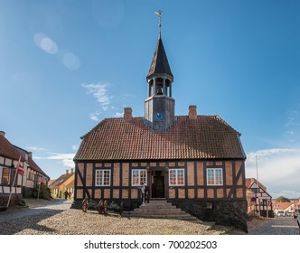 Old town hall in Ebeltoft in Denmark
