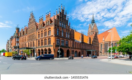 Old Town Hall in Hannover with Marktkirche