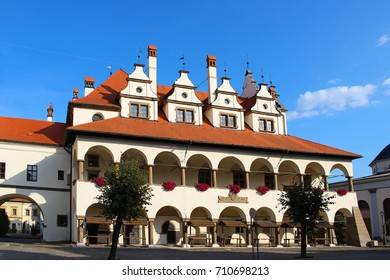 Old town hall in the historical center of Levoca, Slovakia