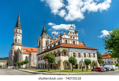Old Town Hall and St. James church in Levoca. A UNESCO wold heritage site in Slovakia