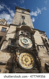 The Old Town Hall Tower with the Horologe, the medieval astronomic clock, Prague, Czech Republic - Shutterstock ID 477749356