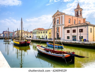 old town and harbor of cesenatico - italy