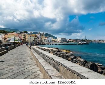 Old town of Ischia, Ischia island, Naples, Gulf of Naples, Campania, Italy