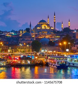 Old town of Istanbul - Fatih district and The Suleymaniye Mosque, Turkey