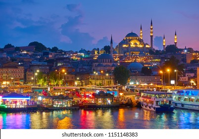 Old town of Istanbul - Fatih district and The Süleymaniye Mosque, Turkey