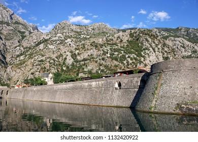 Old town Kotor fortress famous tourist destination Montenegro