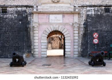 Old town Kotor fortress gate Montenegro