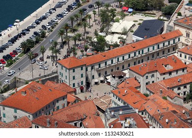 old town Kotor stone houses and buildings Montenegro