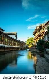 The old town of Lijiang at dusk, China
