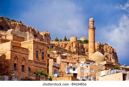 Old town of Mardin, small town near Diyarbakir on syrian border in Turkey